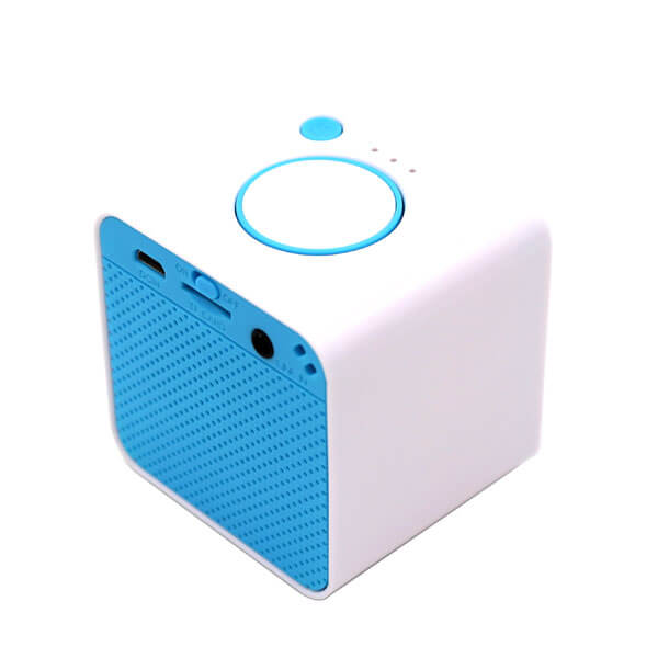 china bluetooth speaker blue color front