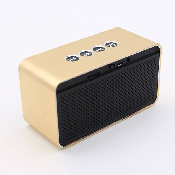 chinese bluetooth speaker gold color back