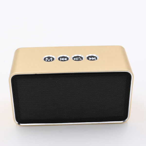 chinese bluetooth speaker gold color front