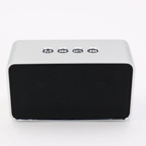 chinese bluetooth speaker sliver color front