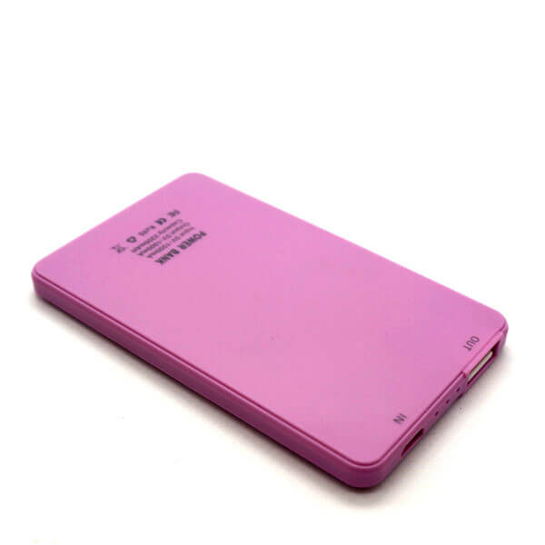 chinese power bank pink back