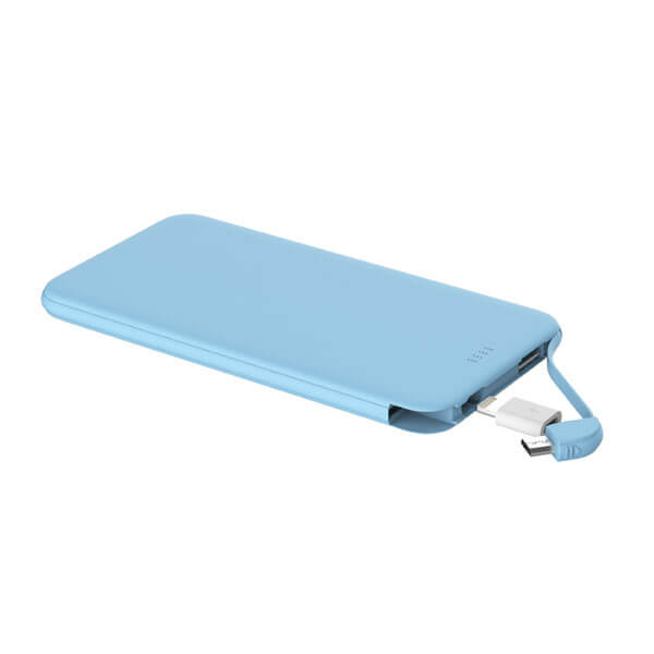custom power bank blue color