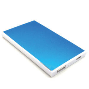 portable power bank blue color