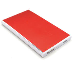 portable power bank red color