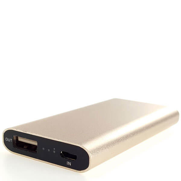 power bank at lowest price gold color front