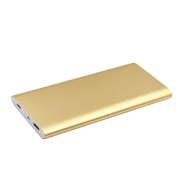 power bank fast charging gold color