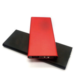 power bank manufacturers red and black color