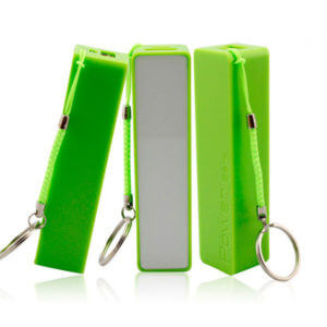 promotional power banks green color