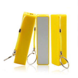 promotional power banks yellow color