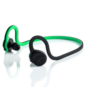 running earphones Green Color