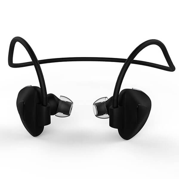 sport bluetooth headphones black color back