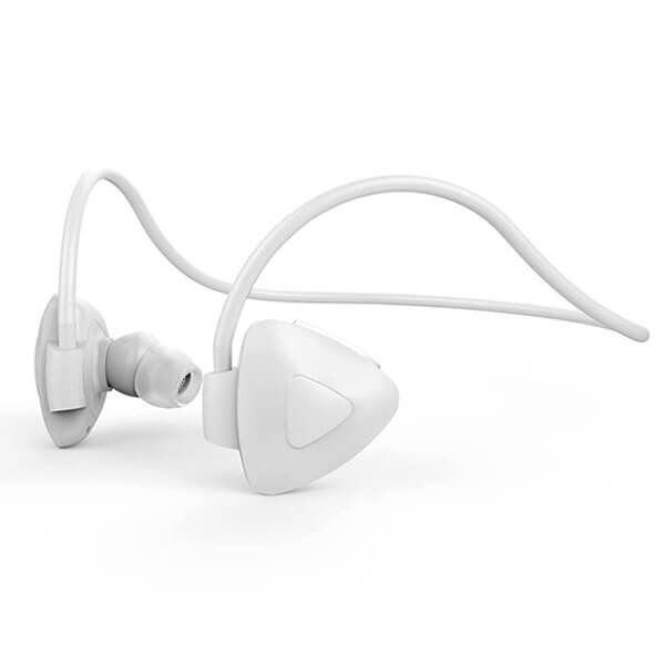 sport bluetooth headphones white color side