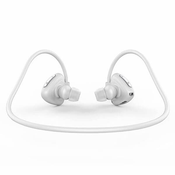 sport bluetooth headphones white color