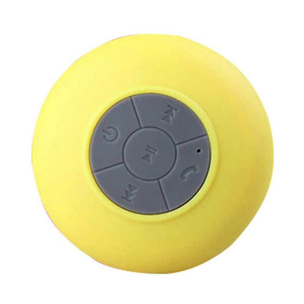 waterproof bluetooth speaker yellow top view