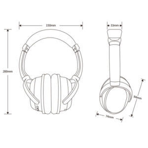 wireless noise cancelling headphones size show
