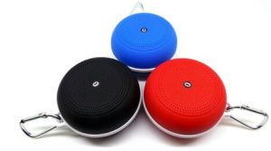 bluetooth speaker with a hook