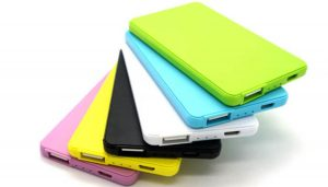 Portable power bank come in different colors and designs